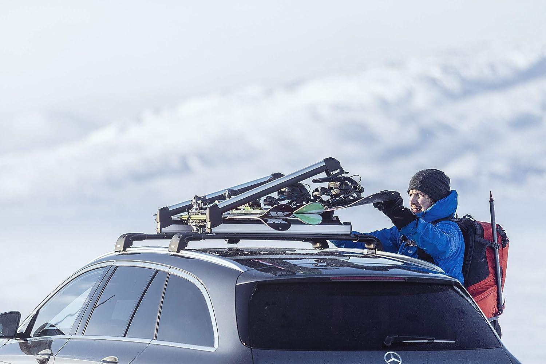 Aluminum Thule SnowPack Extender Ski//Snowboard Rack