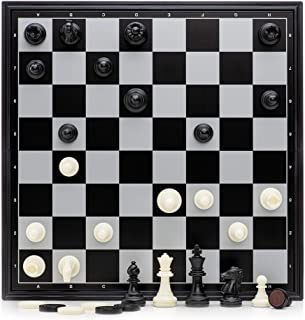 "12.6"" Magnetic Folding Chess and Checkers Set / Suitable for Travel and Starters …"