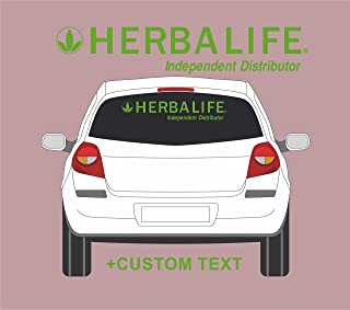 HERBALIFE independent distributor Car Window Decal Sign + Your text (30