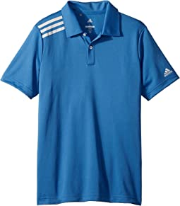 adidas Golf Kids 3 Stripe Polo (Big Kids)