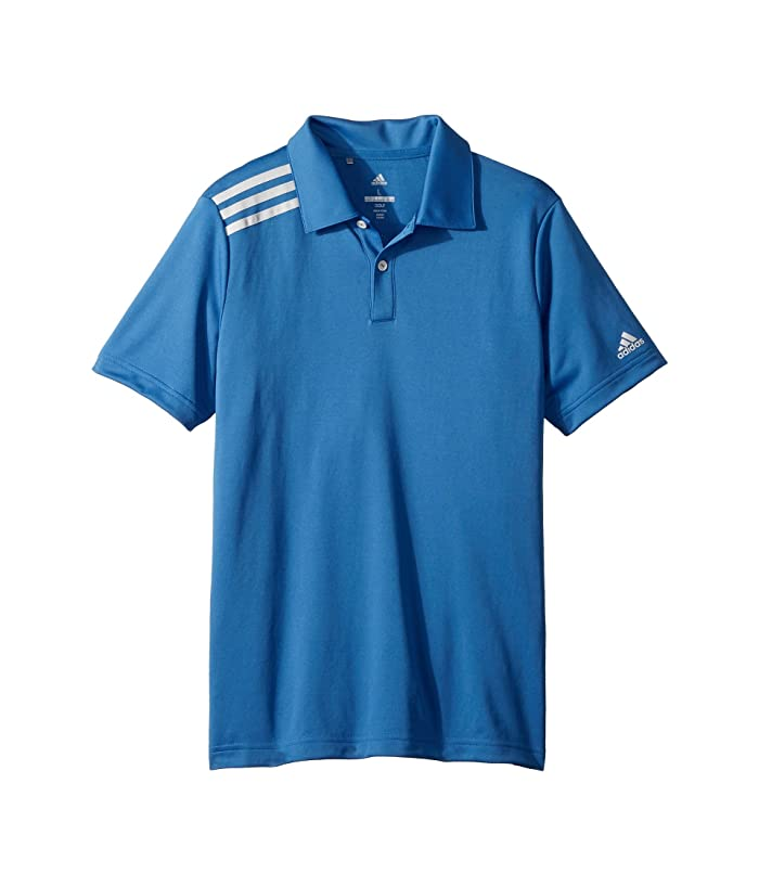 adidas Golf Kids  3 Stripe Polo (Big Kids) (Trace Royal) Boys Short Sleeve Pullover