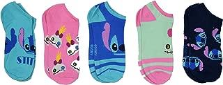 Disney Lilo And Stitch 5 Pack Ankle Socks Size 4-10