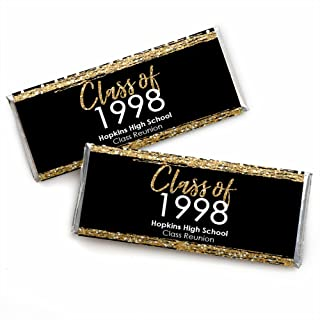 Personalized Reunited - Custom School Class Reunion Party Favors Candy Bar Wrapper - Custom Class of Text - Set of 24