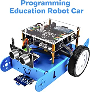 LAFVIN Ibot Programmable Education Robot Car Kit STEM Education,Entry-Level Programming,DIY Mechanical Building Blocks Robot Compatible with Arduino IDE