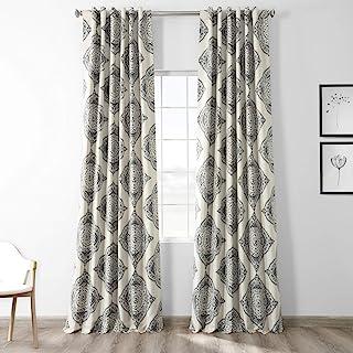 HPD Half Price Drapes BOCH-KC27B-120 Blackout Room Darkening Curtain (1 Panel), 50 X 120, Henna Black