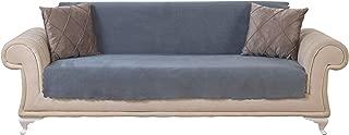 Chiara Rose Couch Covers for Dogs Sofa Cushion Slipcover 3 Seater Furniture Protectors Futon Cover, Sofa, Diamond Smoke