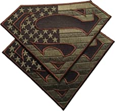 Bundle 2 pieces - American Superman large Patches Military Colors