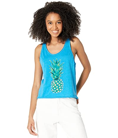 Chaser Pineapple Recycled Vintage Jersey Cropped Racerback Tank