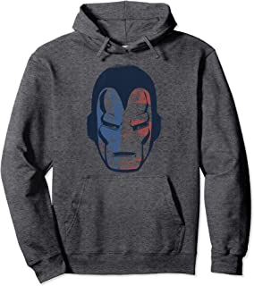 Marvel Iron Man American Flag Face Vintage Graphic Hoodie