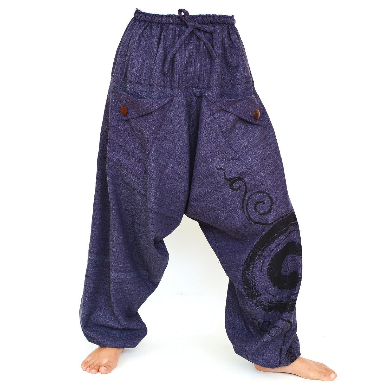TCC21 Women Trouser Pants Yoga Pants Aladdin Pants Maxi Pants Boho Pants Gypsy Pants Genie Pant Hippie Pants Trouser Cotton Pants Blue