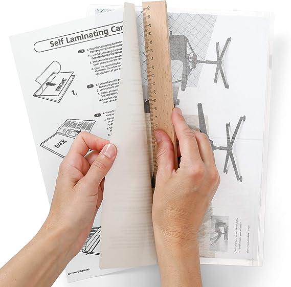 Fogli per plastificatrice ZQDL 220 x 310 mm trasparente 10 pezzi. pellicola termoplastica 10//50//100 pezzi
