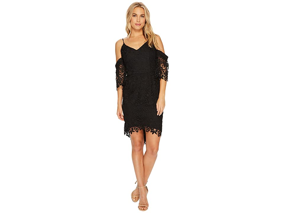 Adelyn Rae Krista High-Low Sheath Dress (Black) Women