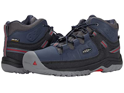 KEEN Kids Targhee Mid WP (Little Kid/Big Kid) (Blue Nights/Red Carpet) Boy