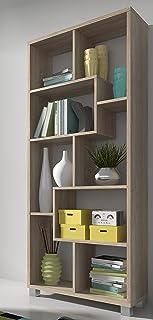 SelectionHome - Estantería librería de diseño Comedor salón Color Roble Claro Medidas: 685 x 161 x 25 cm de Fondo
