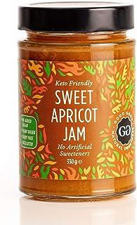 Sweet Apricot Jam by Good Good - 12 oz / 330 g - No Added Sugar Apricot Jam - Vegan - Gluten Free - Diabetic (Apricot) but...