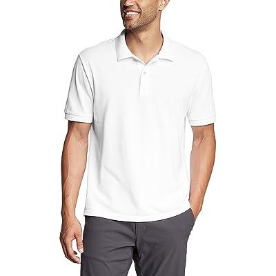 Eddie Bauer Classic Field Pro Short Sleeve Polo Shirt Tall (White) Men