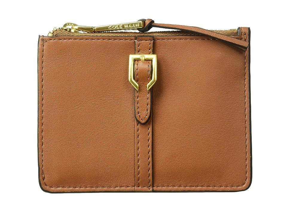 e5bda2608d Cole Haan Kayden Zip Card Case (Collection Brown) Wallet Handbags