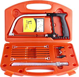 Handsaw Hand Saw Set, Uolor 14 in 1 Multi Purpose DIY Bow Saw Hacksaw Universal Saw Woodworking Tool for Cutting Wood, Plastic, Glass, Tile, Metal, Rope, PVC Pipe, Rubber