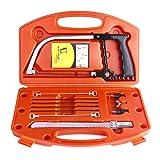 Magic Handsaw Set, Uolor 14 in 1 Multi Purpose DIY Bow Saw Hacksaw Universal Saw Woodworking Tool for Cutting Wood, Plastic, Glass, Tile, Metal, Rope, ...