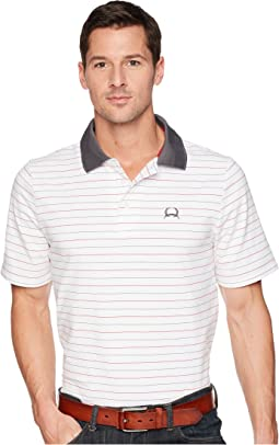 Athletic Tech Polo Striped