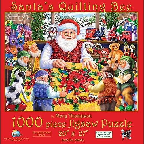 oferta especial SunsOut 58296 - - - Thompson, M.  Santa's Quilting Bee - Puzzle 1000 Teile  tomamos a los clientes como nuestro dios