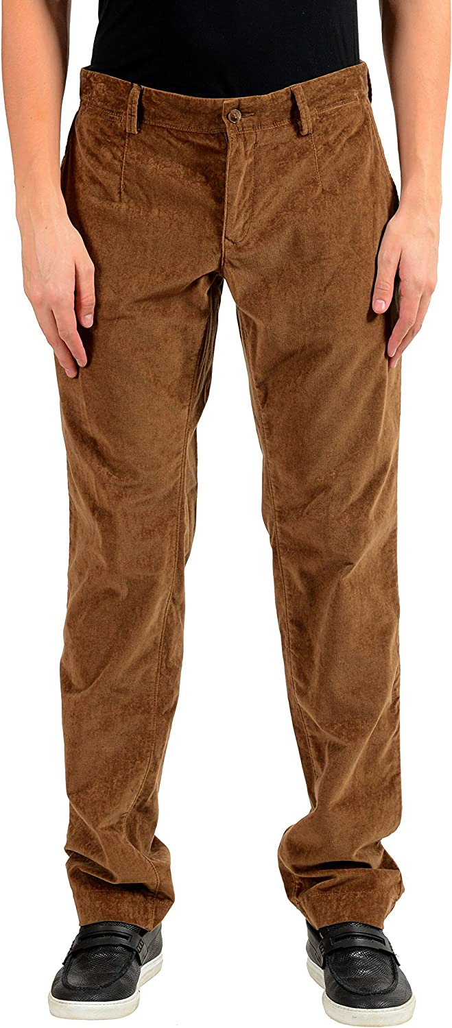 New sales Dolce Gabbana Men's Brown Corduroy Casual Pants IT 30 US Max 45% OFF 46