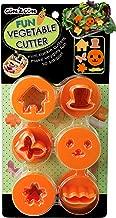 CuteZCute Fun Vegetable Cutter, Flower Butterfly House Face Mustache and Hat, Orange, Set of 6