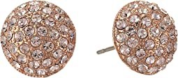 Small Pave Button Earrings