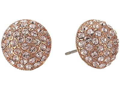 Nina Small Paved Button Earrings (Rose Gold/Silk Swarovski) Earring