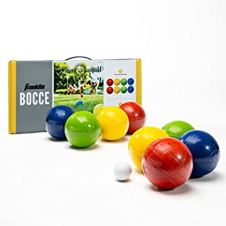 Franklin Sports Bocce Ball Set — 8 All Weather Bocce Balls and 1 Pallino — Beach, Backyard Lawn or Outdoor Party Game — Professional, American, and Starter Set Options
