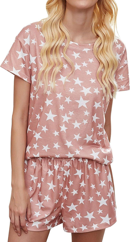 ECOWISH Womens Large special price Pajamas Shirt Elastic PJ S Pant Drawstring Shorts Cheap bargain