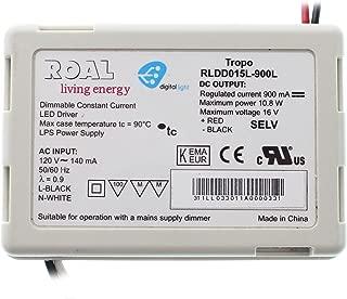ROAL RLDD015L-900L Dimmable LED-Driver, 120V-In, 900mA, 16VDC @ 10.8W