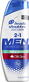 Head and Shoulders Old Spice Pure Sport Dandruff 2 in 1 Shampoo and Conditioner,  12.8 fl oz