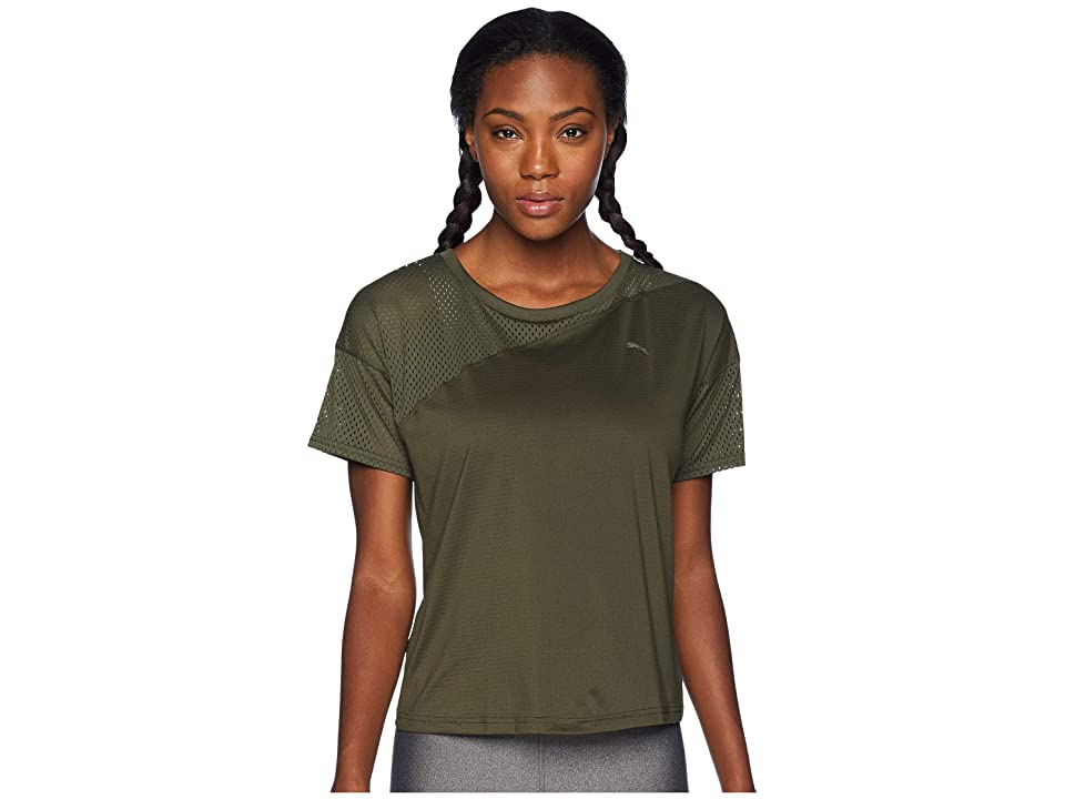 PUMA A.C.E. Mesh Blocked Tee (Forest Night) Women