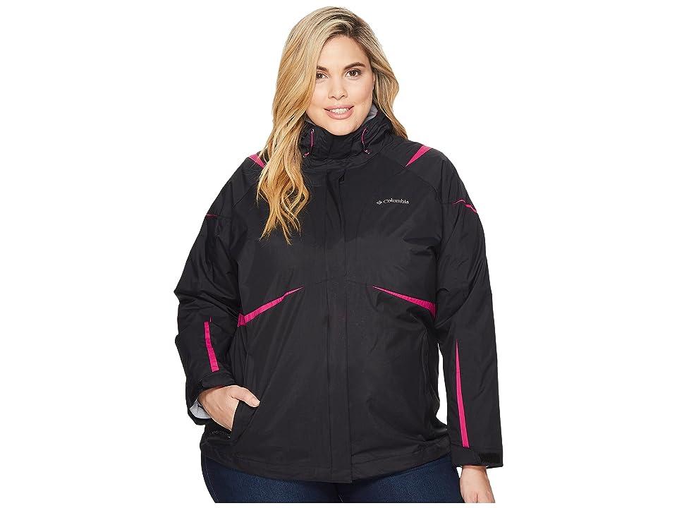 Columbia Plus Size Blazing Startm Interchange Jacket (Black/Deep Blush) Women
