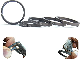 BANG TI Titanium Side-pushing Designed Key Rings (5-Pack, K1, K2) Save Your Nail, Group Your Keys, Lifetime Use