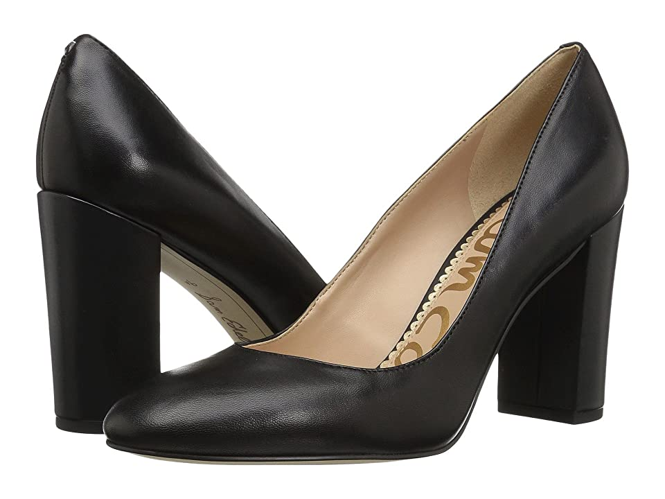 60s Shoes, Boots | 70s Shoes, Platforms, Boots Sam Edelman Stillson Black Dress Nappa Leather Womens Shoes $119.95 AT vintagedancer.com