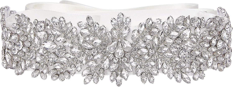 SWEETV Beauty products Rhinestone Wedding Dress Belt Max 55% OFF Bridal for