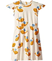 mini rodini - Whale All Over Print Wing Dress (Infant/Toddler/Little Kids/Big Kids)