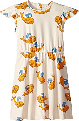 Whale All Over Print Wing Dress (Infant/Toddler/Little Kids/Big Kids)