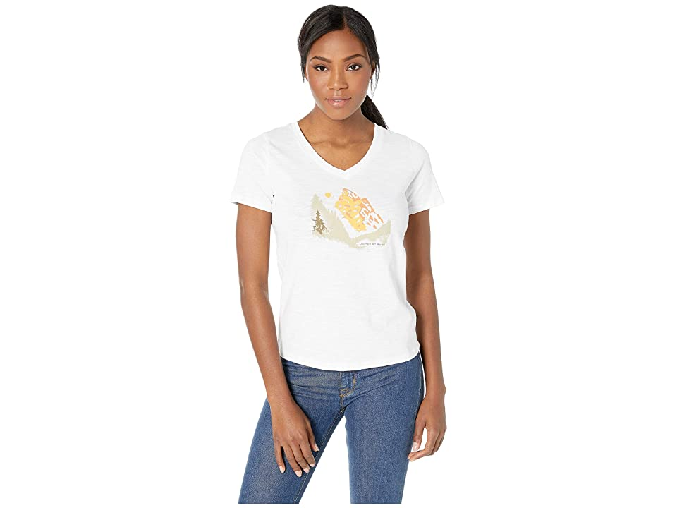 United By Blue In The Pines Short Sleeve Graphic Tee (White) Women