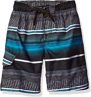 Kanu Surf Boy's Echelon Stripe Quick Dry Beach Board Shorts Swim Trunk