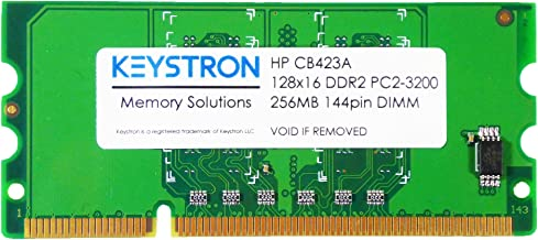 Keystron CB423A 256MB DDR2 144-pin DIMM Printer Memory for HP Laserjet P2015 P2015d P2015dn P2015n P2015x…