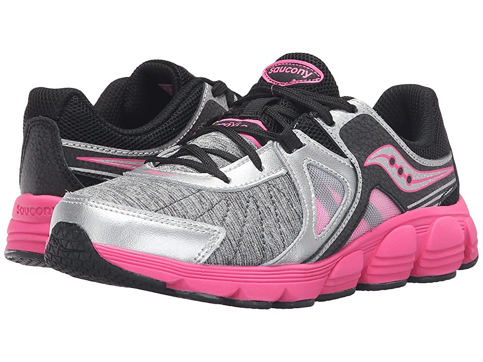 Saucony Kids Kotaro 3 (Little Kid) (Silver/Black/Pink) Girls Shoes