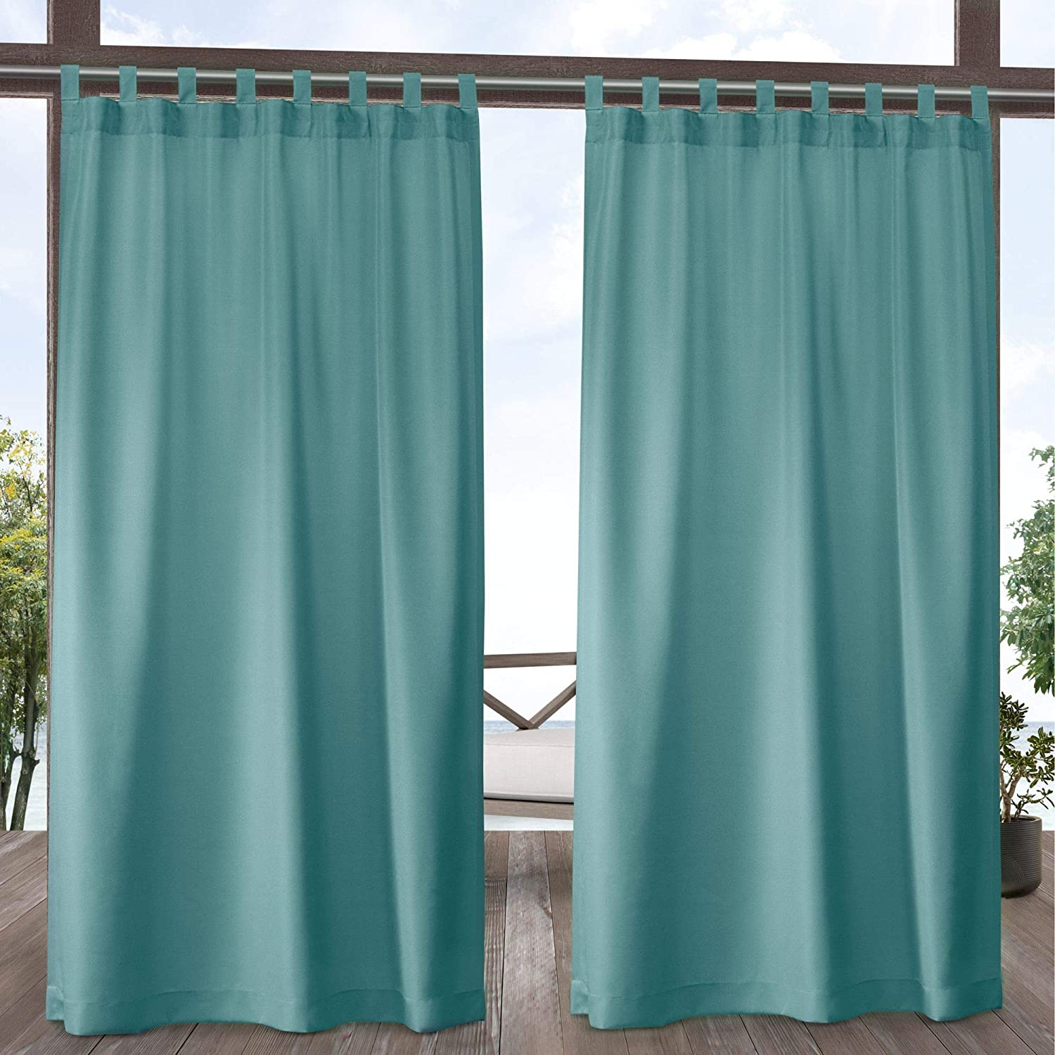 Exclusive Max 87% OFF Home Curtains Indoor Outdoor Tab Solid Top NEW before selling ☆ Cabana Curt