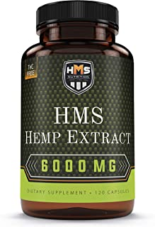 Hemp Oil Capsules 6000MG – Highly Potent USA Sourced and Made 100% Natural - Pain Joint Anxiety Stress Sleep Mood and Immunity Support – Omega 3, 6, 9