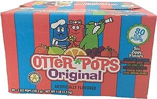 Otter Pops Freezer Ice Bars, Fat Free Ice Pops, Tropical Flavors (80 - 1 oz pops)