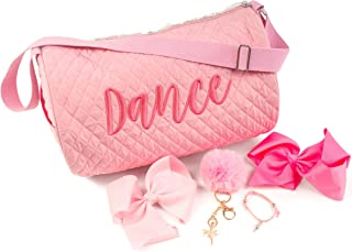 Bella Tutu Pink Girls Ballet Dance Bag Gift,  Little Reversible Flip Sequin,  Bows,  Dancer Bracelet And Keychain,  Quilted Fabric,  Recital,  Sparkly Mermaid,  Sports Duffle Bag,  Travel Carry On,  Gift