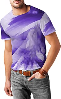 Rainbow Rules Colored Abstract Watercolor Mens Cotton Blend T-Shirt