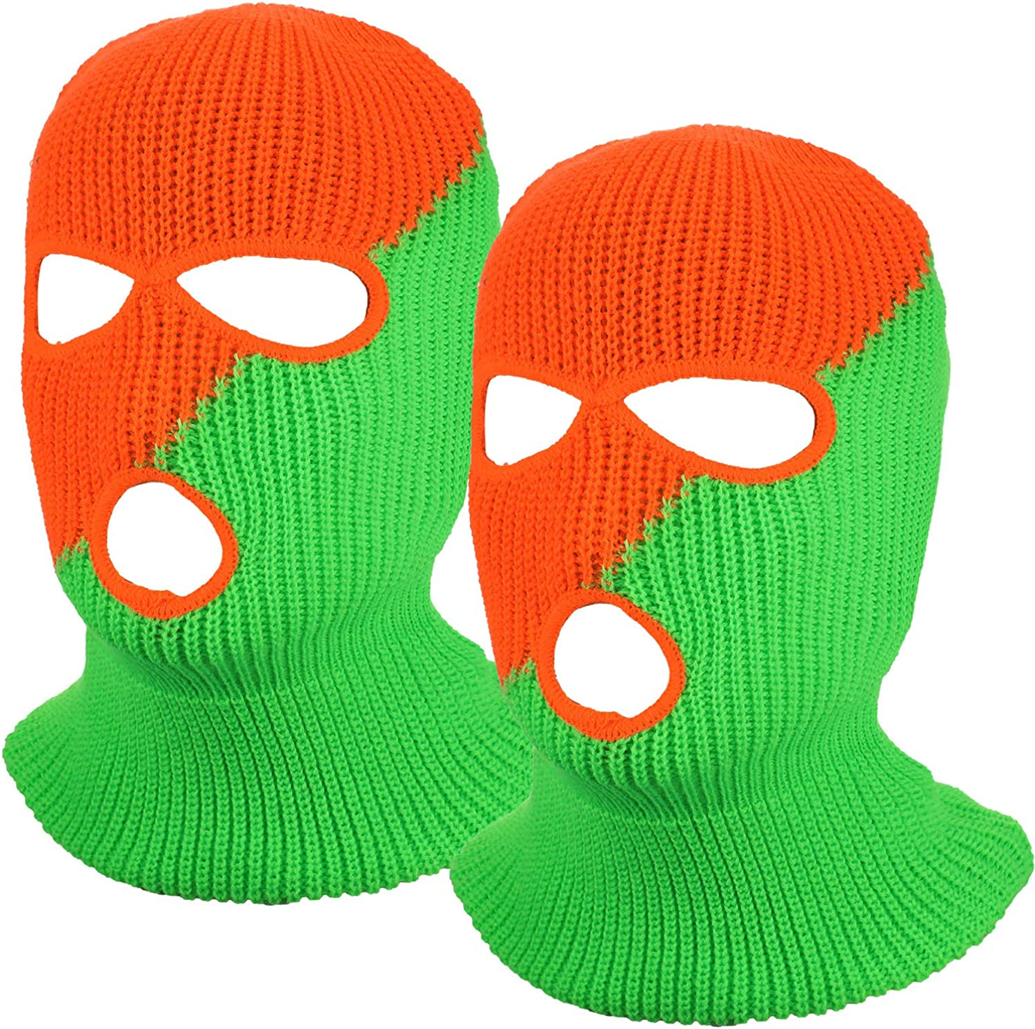 2 Pieces 3-Hole Ski Mask Award-winning store Knitted Balaclava Cover Winter Face Max 62% OFF Ful